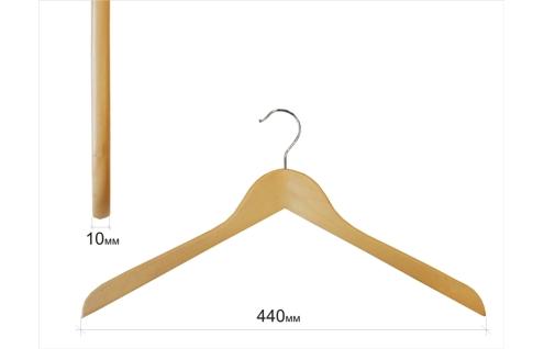 Плечики для одежды type 01В (без перекладины,бук)