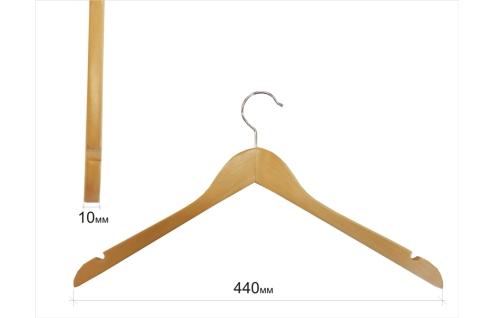 Плечики для одежды type 01ВL (без перекладины,бук, с выемками)