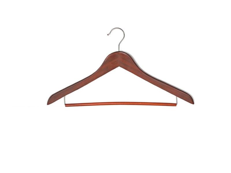 Плечики для одежды type 4AМ (махонь) (перекладина на желез кроншт)