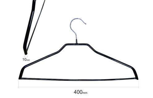 Плечики для одежды type 6ХA метал. 40см (черная) с перекладиной без крючков
