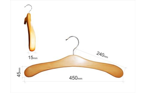 Плечики для одежды type 9А (толстая, БУК)