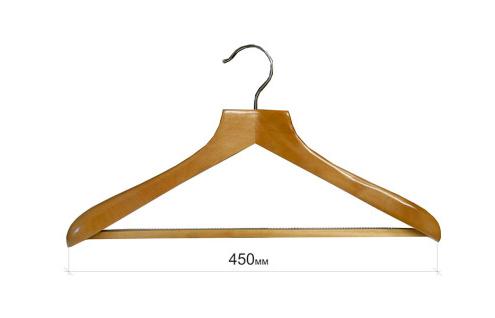 Плечики для одежды type Deluxe(бук) с широкими плечиками с перекладиной