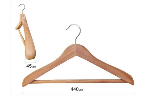 Плечики для одежды type Deluxe(кедр) с перекладиной