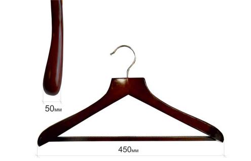 Плечики для одежды type Deluxe (махонь) с широкими плечиками с перекладиной