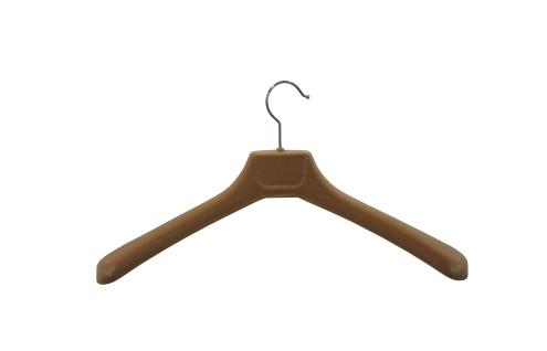 W-45F Плечики для одежды пластиковые флокированные 45см (БЕЖ)